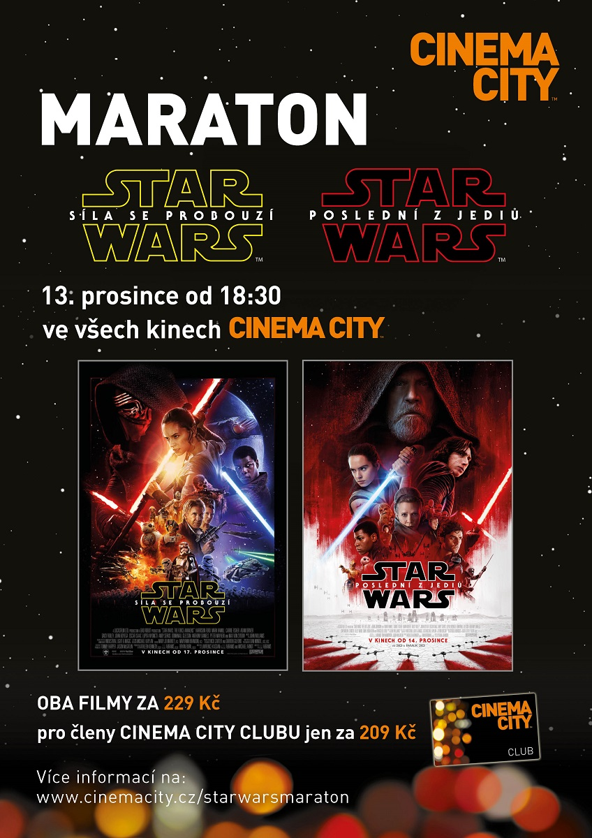 Filmový Maraton: Star Wars v Cinema City